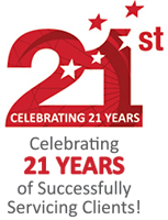 Celebrating 21 years of successfully servicing clients